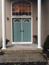 """New color for front doors (behr paint color """"dragonfly ..."""