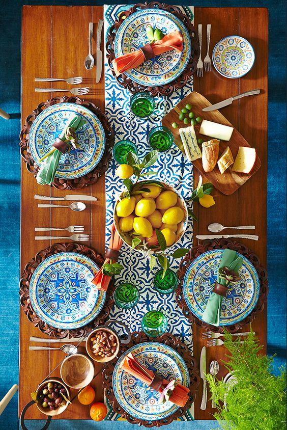 Mediterranean tile, Tapas and Dinnerware on Pinterest