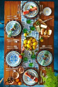 Mediterranean tile, Tapas and Dinnerware on Pinterest