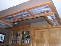 This soffit in a basement ceiling covers up some plumbing ...