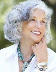"""bright silver"" grey hair beautiful"