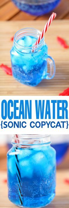 Copycat Sonic Ocean Water Recipe via Baking Beauty - The most gorgeous and refreshing summer drink around! The perfect non alcoholic drink for picnics or the Fourth of July. The BEST Easy Non-Alcoholic Drinks Recipes - Creative Mocktails and Family Friendly, Alcohol-Free, Big Batch Party Beverages for a Crowd!