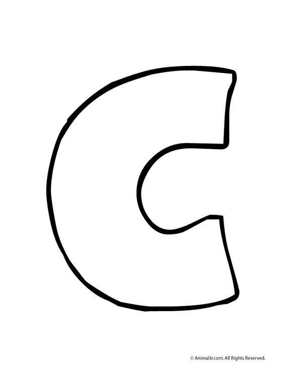 Printable Bubble Letters Bubble Letter C