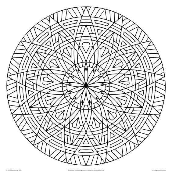 Coloring, Mandala coloring and Circles on Pinterest