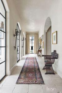 Mediterranean Cream Tiled Hallway | Luxe | Halls + Stairs ...