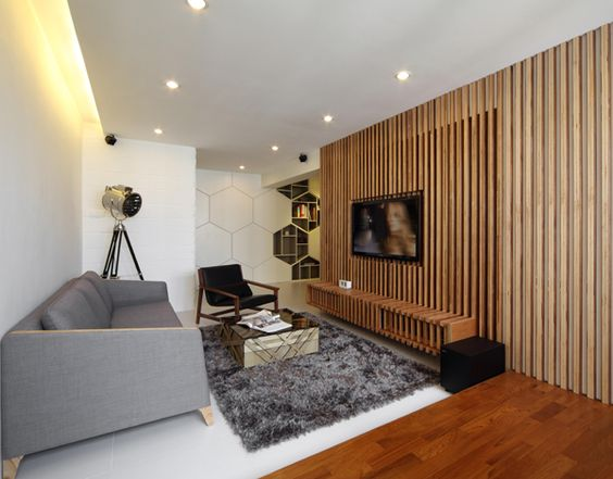 Interior Vertical Wood Slats Wall - Google Search