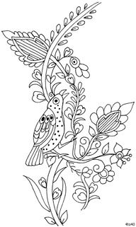 Bird embroidery, Embroidery patterns and Embroidery on