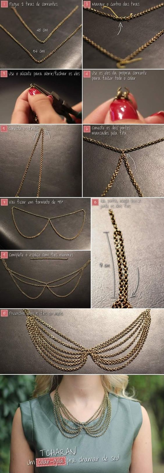 Diy Gold Collar Necklace