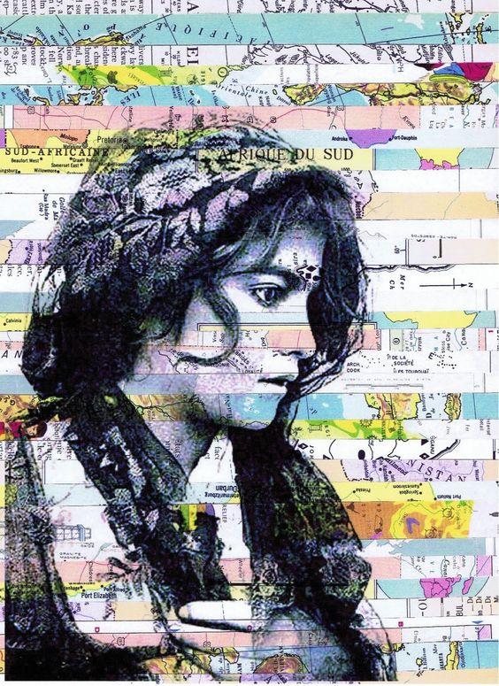 JACKIE BASSETT Haunt Collage Map JPEG Image 1113 × 1530