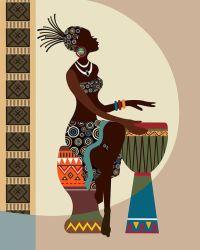 African Art, African American wall Art, African Woman ...