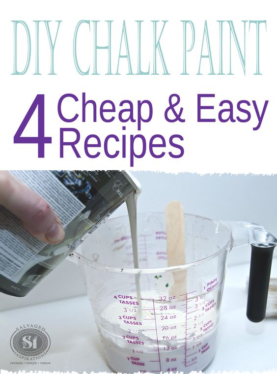 These Four Diy Chalk Paint Recipes Are Cheap And Easy To
