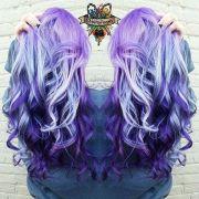eye-popping purple hair color design