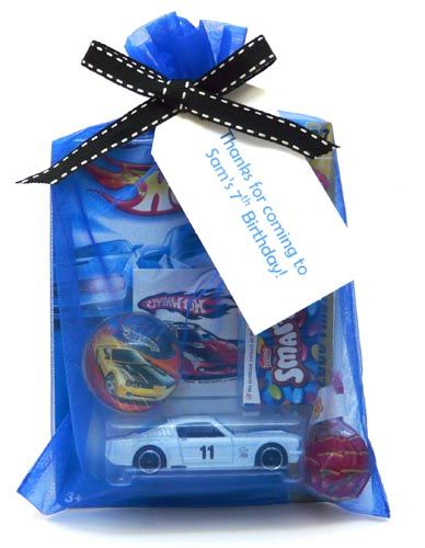 Hot Wheels party treat: