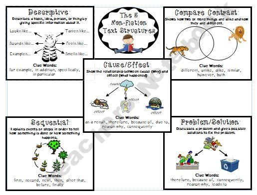 Text structures, Texts and A student on Pinterest