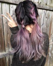 metallic mauve hair color bescene