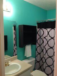 Tiffany blue & black bathroom. | Future home | Pinterest ...