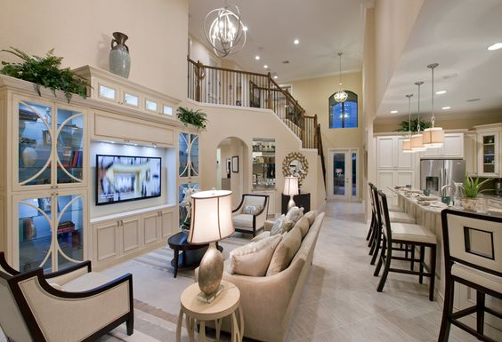 Gorgeous Toll Brothers open floor plan featuring Progress