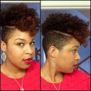 natural hair shaved sides