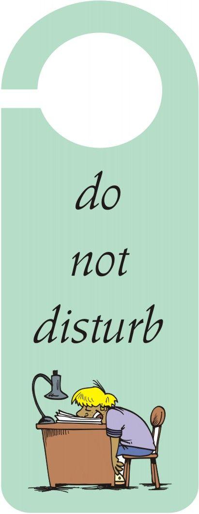 do not disturb sign template