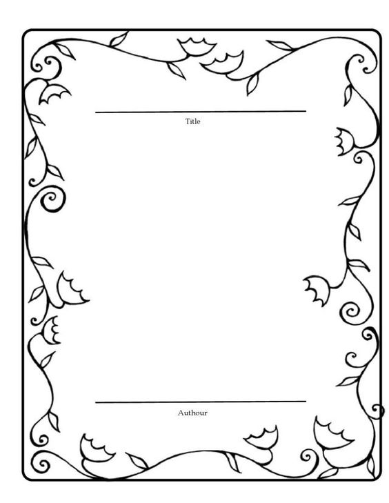 Book Template for students good copy of their stories