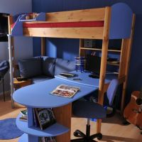 Futon Bunk Bed with Desk Design Ideas | kids room ...