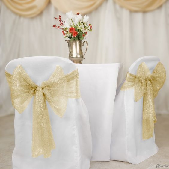 Chair sashes Mesh chair and Chair covers on Pinterest