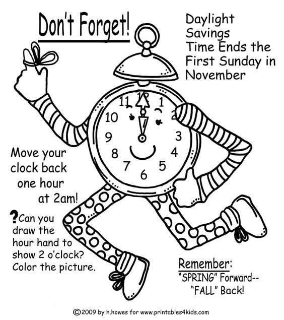Coloring pages, Fall back and Coloring on Pinterest