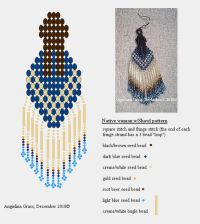 Native woman with Shawl beaded earring pattern + finished ...