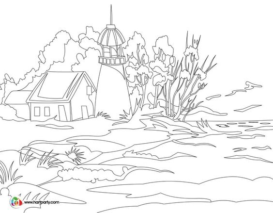 traceable and coloring page for Light keepers full youtube
