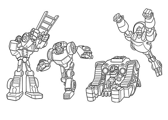 All Rescue bots coloring pages for kids, printable free
