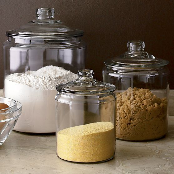 Lids Crate Hill Glass Jars Large Clear