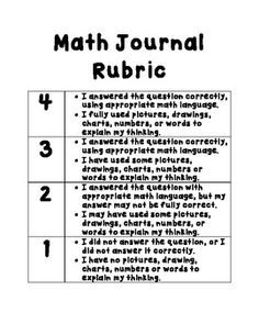 Rubrics, Math and Math notebooks on Pinterest
