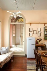 Old & New | Long kitchen, Wall colors and Peaches