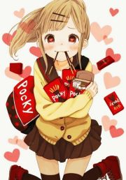 pocky anime girl cute people