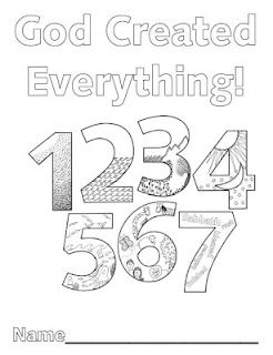 Coloring, Each day and Numbers on Pinterest