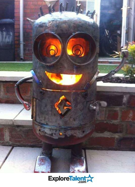 Fire pits Fire and Minions on Pinterest