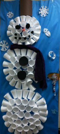 Snowman, Doors and Cups on Pinterest