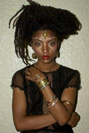 locs natural updo and dreads