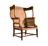 Mahogany Hepplewhite wing chair, Philadelphia, c. 1790, HL ...