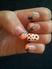 french tip camo nail design nails