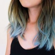 blue tips and dip dye