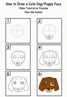 This tutorial on how to draw a cute puppy face is fun and