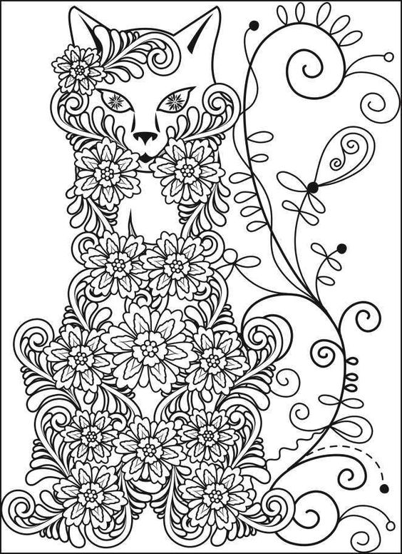 Fox Coloring Book Stress Relief Coloring Pages
