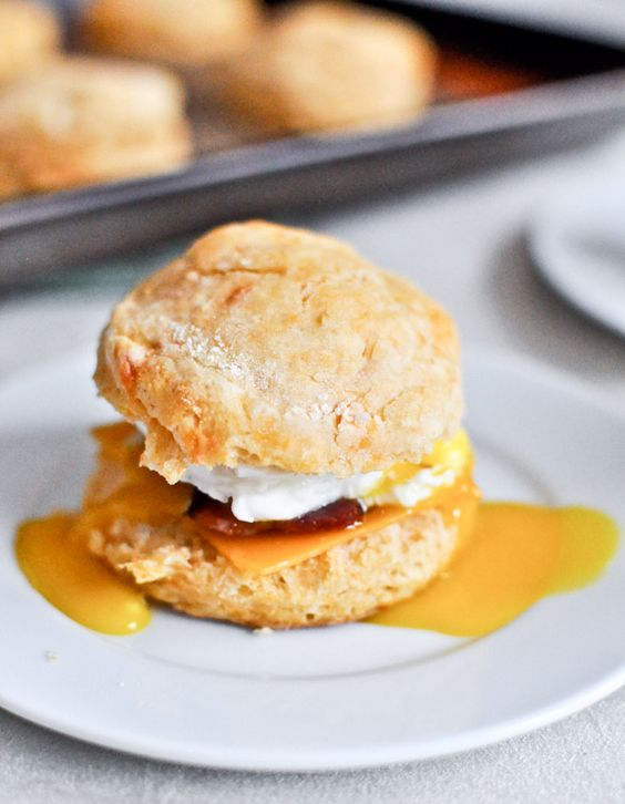Sweet Potato Breakfast Biscuits Recipe via How Sweet Eats - The Best Homemade Biscuits Recipes - Quick, Easy and Delicious Bread Sides for Breakfast, Brunch, Lunch and Family Dinner!