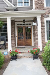 double front doors | hanging lanterns and double front ...