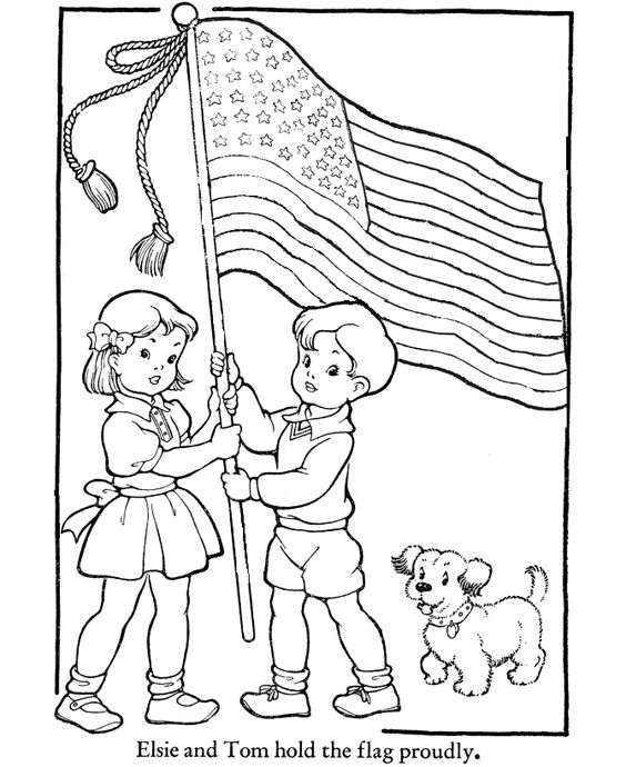 American Flag Coloring Pages The flag is a symbol of a
