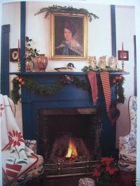 primitive fireplace stockings | Primitive Christmas ...