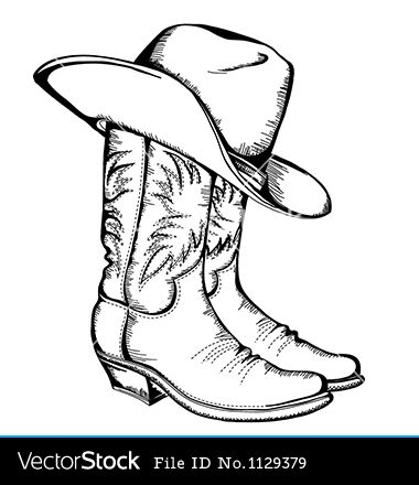 Cowboy boots, Cowboys and Hat template on Pinterest