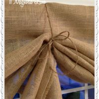 How to make a no sew DIY burlap window valances | Window ...