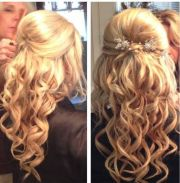 prom hair - updo curly